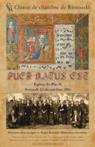"""Concert """"Puer Natus Est"""", 14 décembre 2013"""