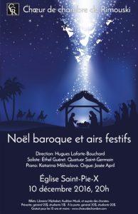 «Noël baroque et airs festifs», 10 décembre 2016